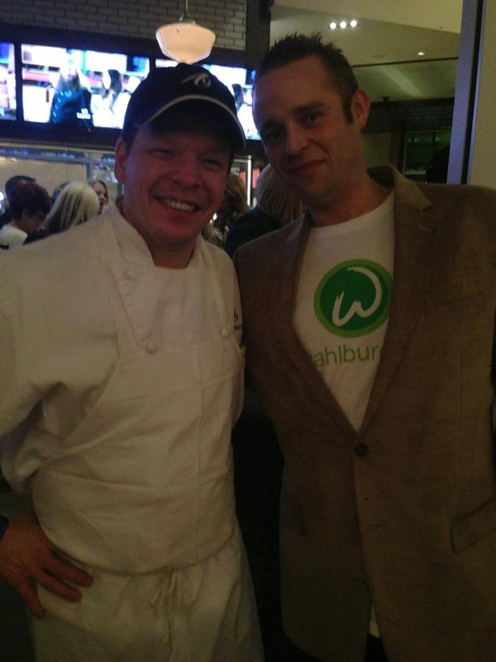 Sean Macaluso with Paul Wahlberg at the A&E Show Premiere in Hingham