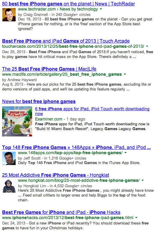 Best Free Iphone Games Google