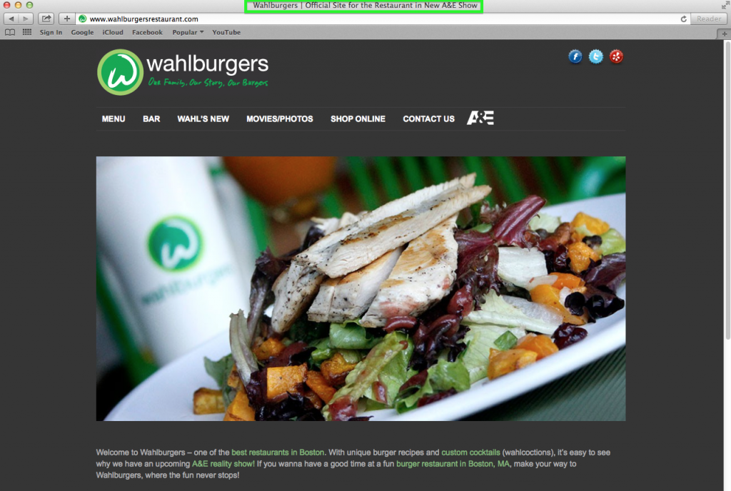 Wahlburgers Home Page