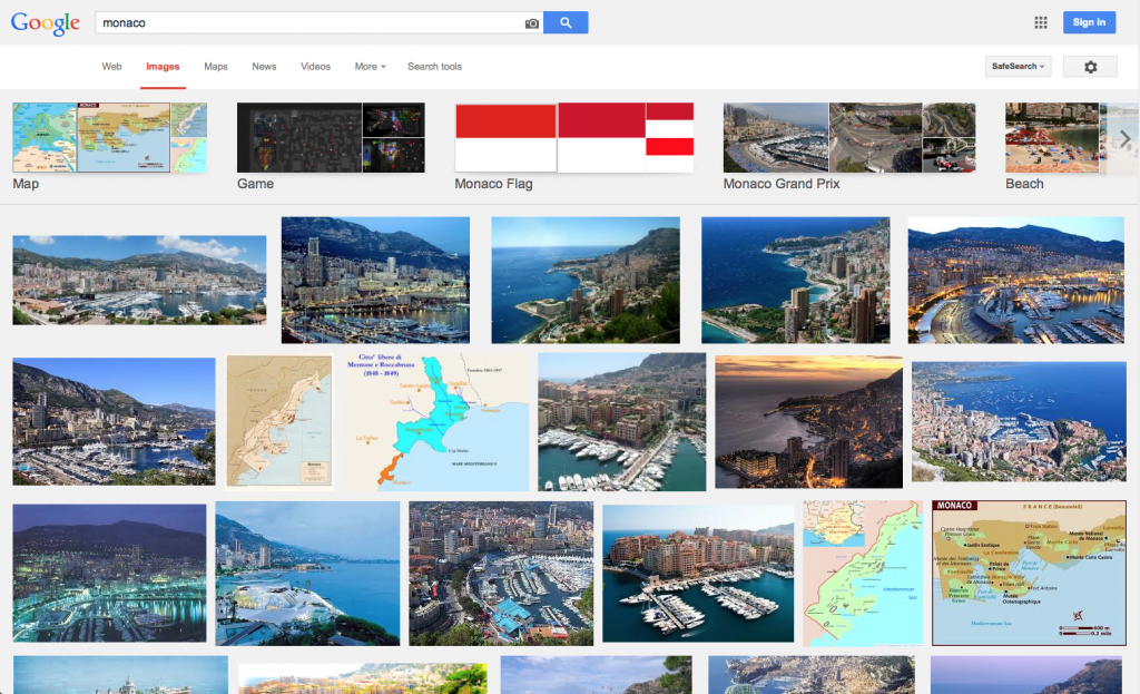 """A Google Image Search for """"Monaco,"""" because it returned beautiful images of a place that I wish I could go next month..."""