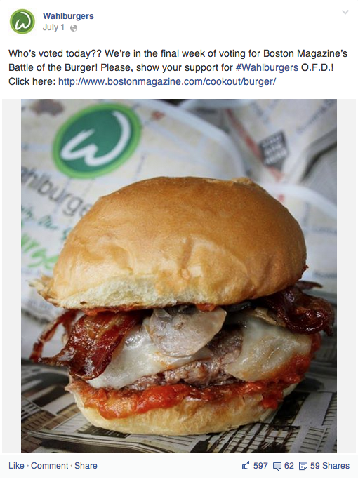 Social Media Marketing for Wahlburgers